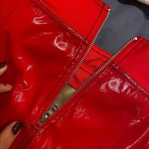 IAM GIA Pants - Red Patent leather pant